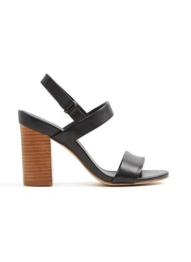 Aldo Kalın Topuklu Sandalet Siyah